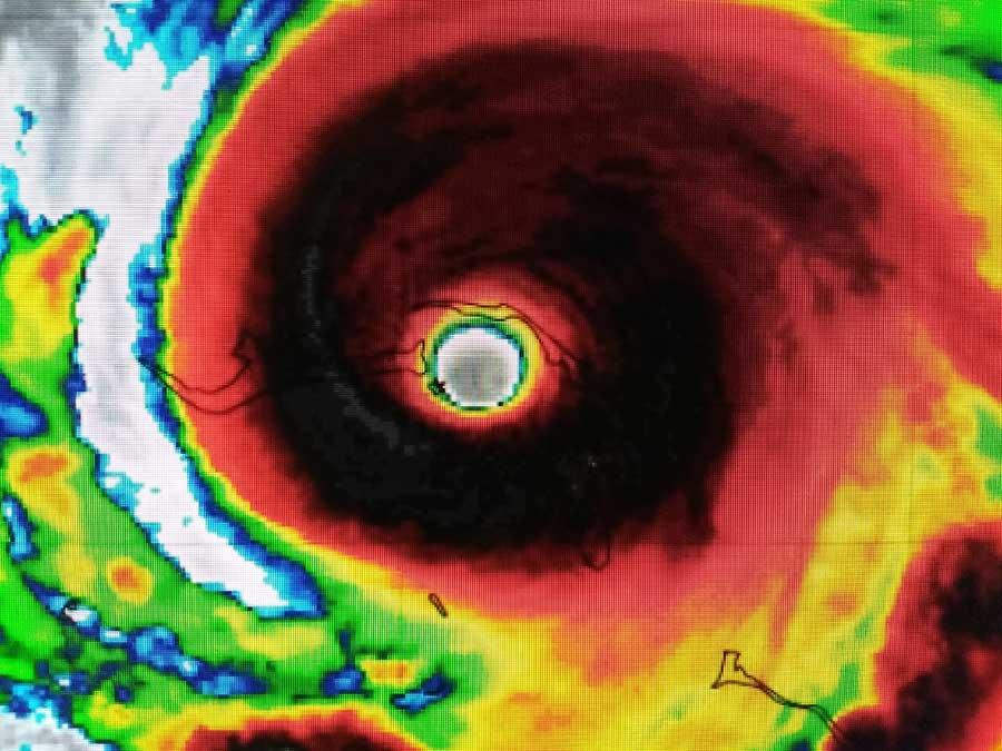 Hurricane Dorian night radar